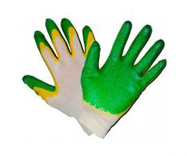 Перчатки хб двойной облив латекс